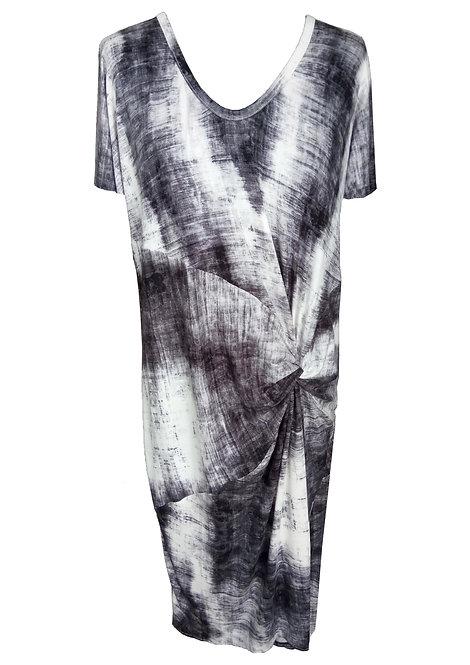 Gray Twisted Sack Dress