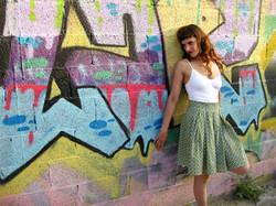 חצאית קפלים ירוקה