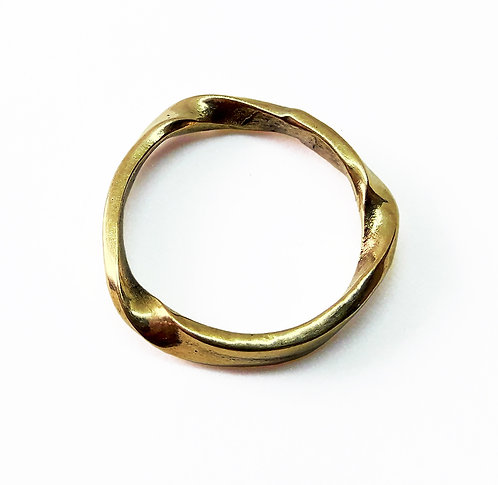14K Gold Twisted Wedding Ring