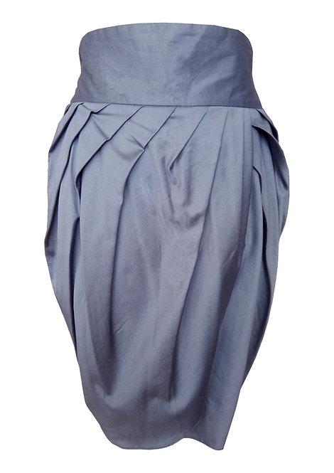 חצאית טוליפ כחול-אפור
