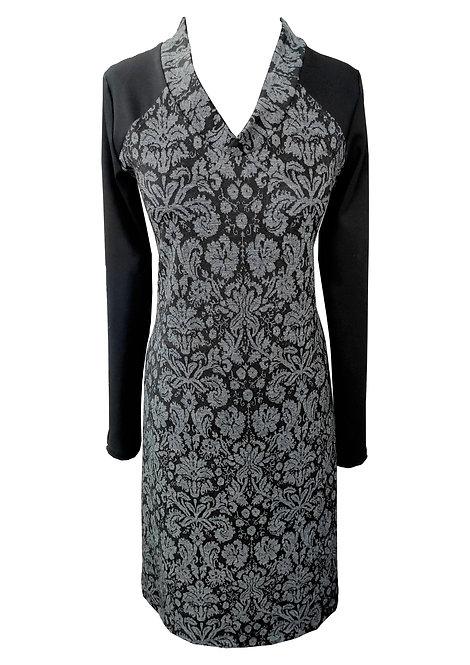 שמלת ג'רזי וי פרחונית