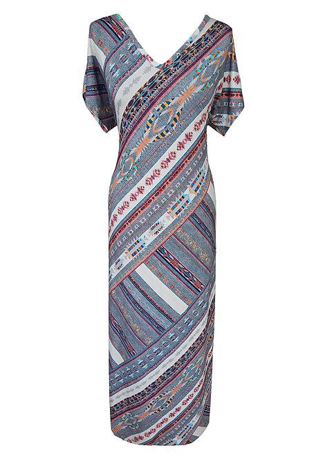 שמלת וי מקסי אינדיאנית