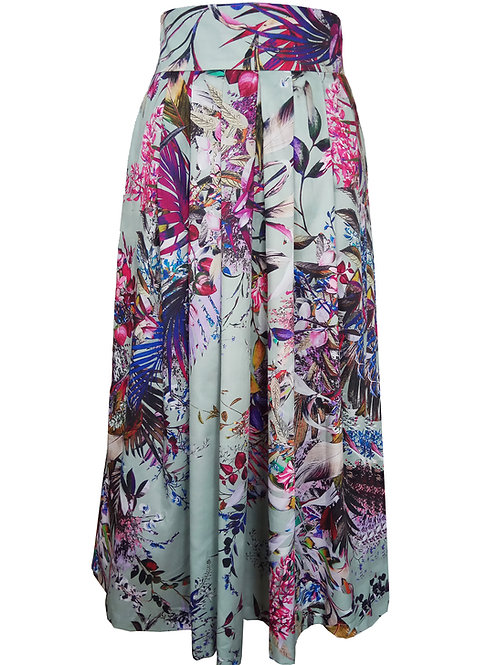 Floral Pleated Skirt - Autumn