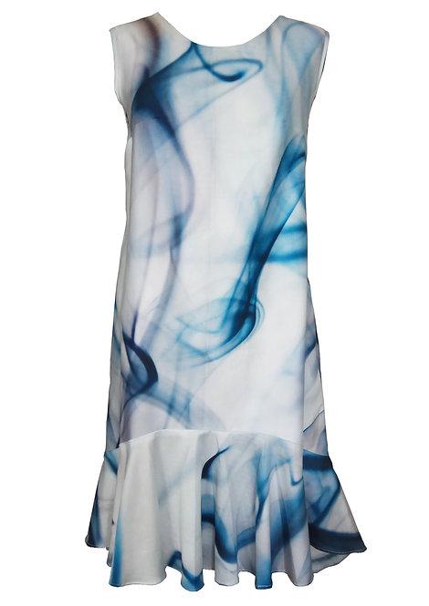 Trapeze Dress Ocean Print
