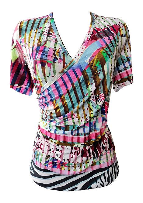 Colorful Wrap Shirt