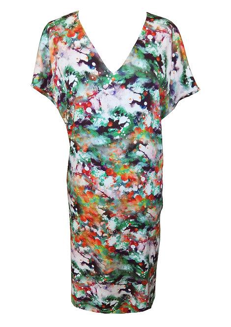 שמלת בוטן צבעי מים