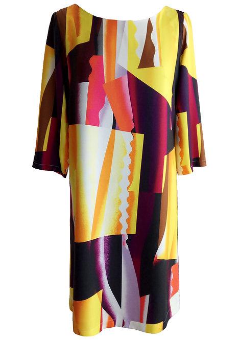 שמלת שנות ה-60 גיאומטרית