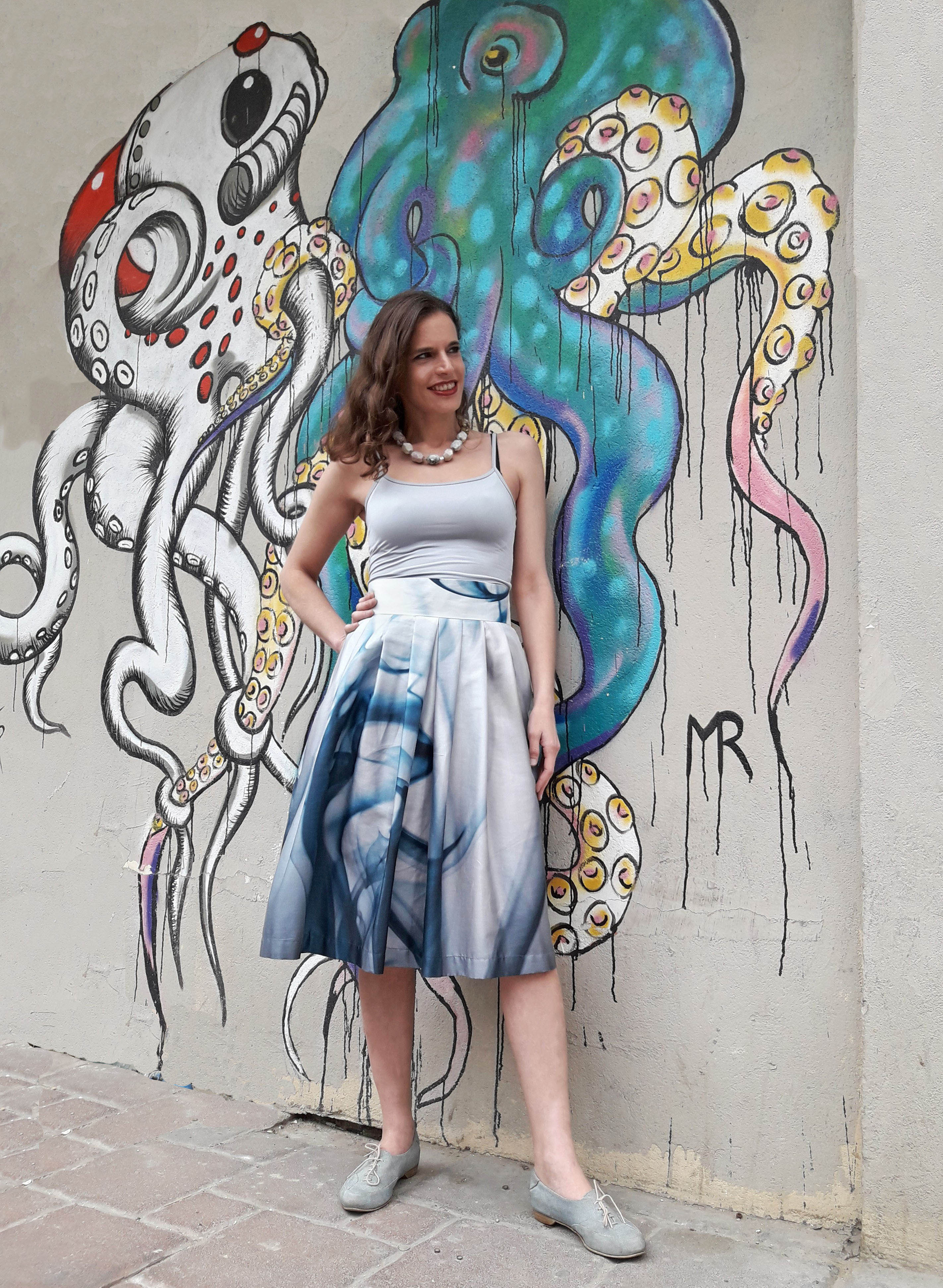 Tamar Ziv - Pleated Cotton Skirt