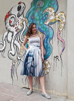 Tamar Ziv - Pleated Cotton Skirt