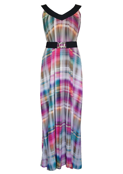 Colorful Checkered Maxi Dress