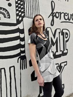 tamar ziv - black and white shirt 2