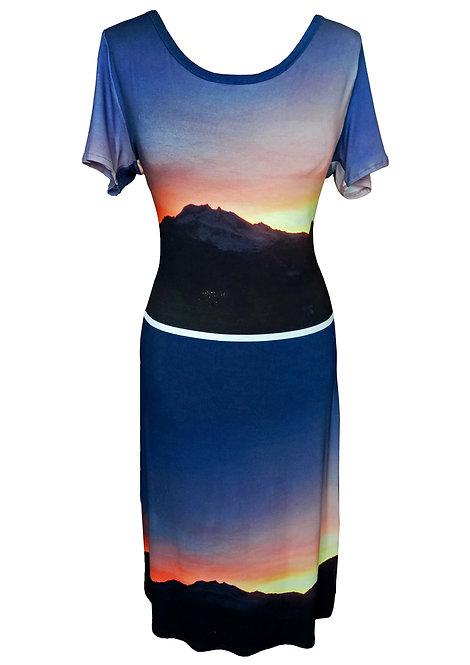 Sunset Print Dress