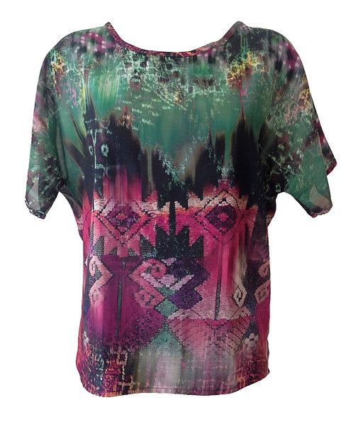 חולצת אוברסייז מודפסת מקסיקו