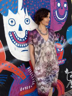 Purple Cotton Dress שמלת בוטן סגולה