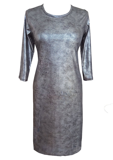 Silver Faux Leather Dress