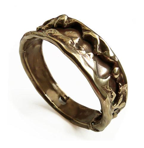 Large Brass Bracelet - Handmade