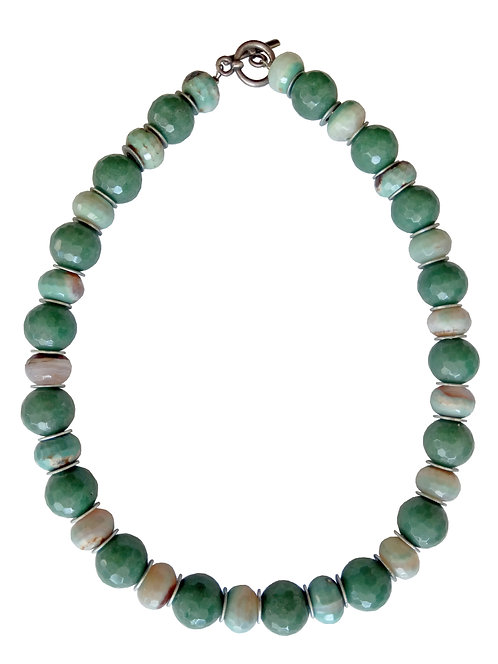 Aventurine and Amazonite Stones Necklace