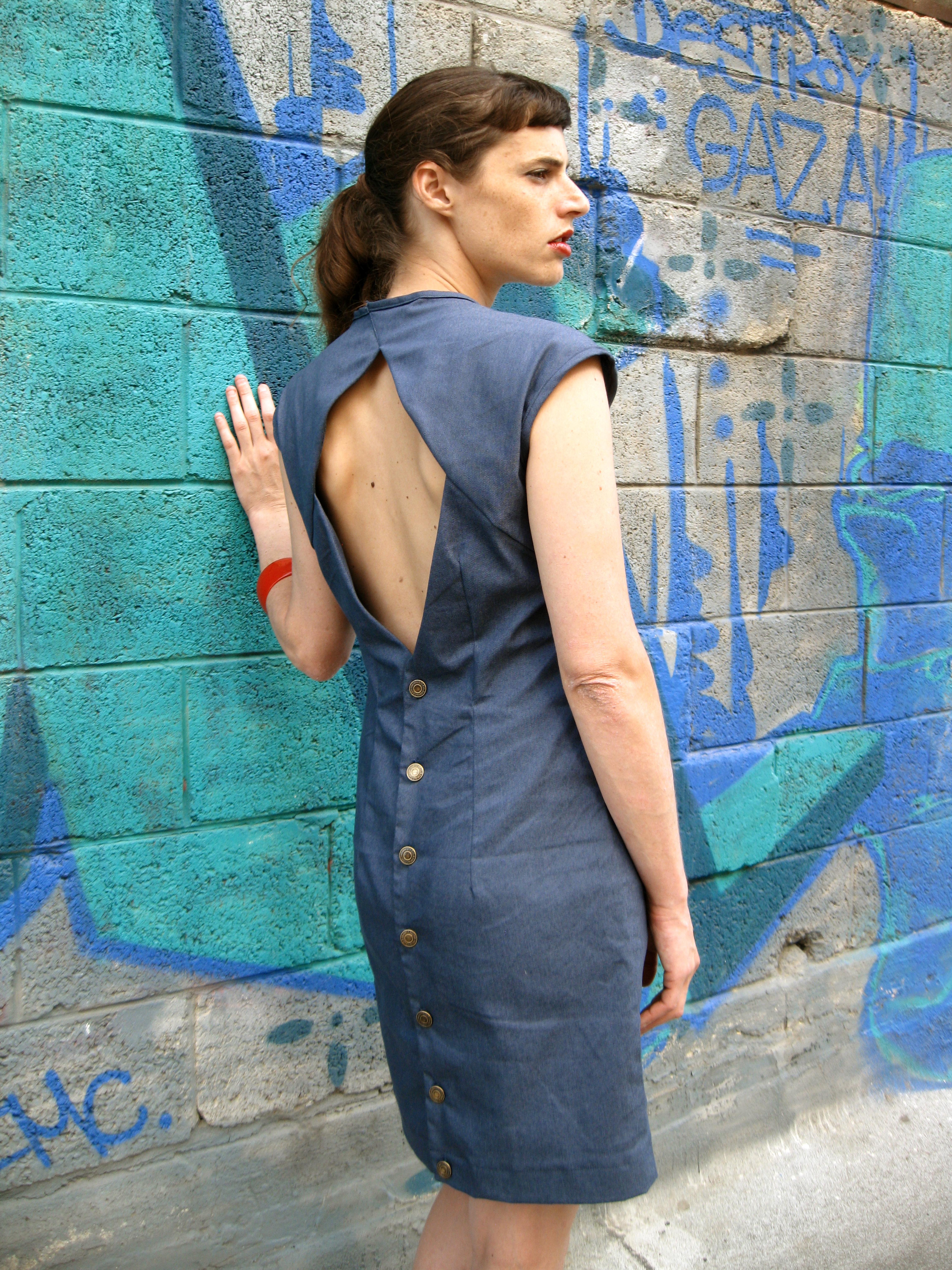 Denim Dress שמלת ג'ינס עם גב חשוף