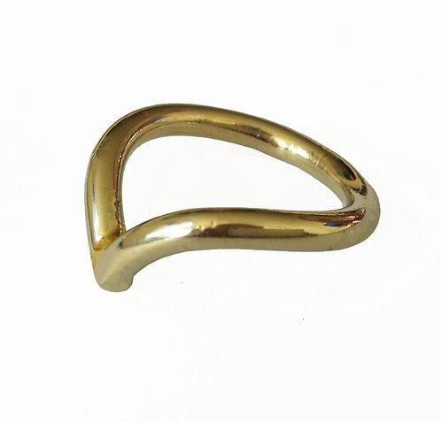 טבעת בצורת וי זהב 14 קראט