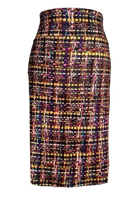 חצאית ג'רזי משבצות