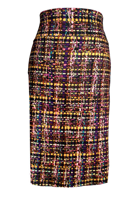 Plaid Jersey Skirt