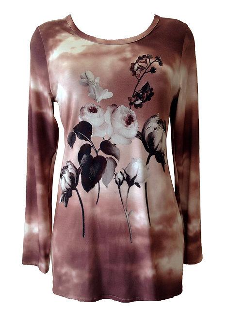 חולצת טוניקה פרחונית
