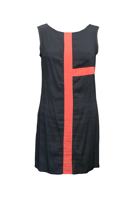 שמלת מונדריאן שחורה