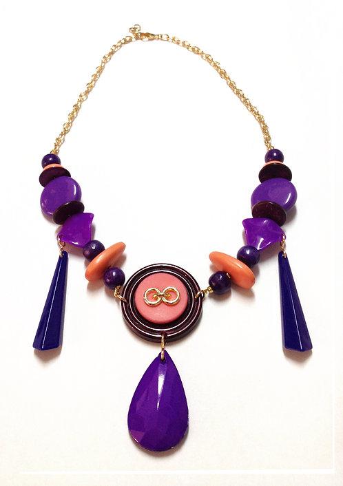 Purple Chandelier Necklace שרשרת שנדלייר סגולה