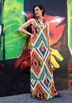 שמלת מקסי אינדיאנית