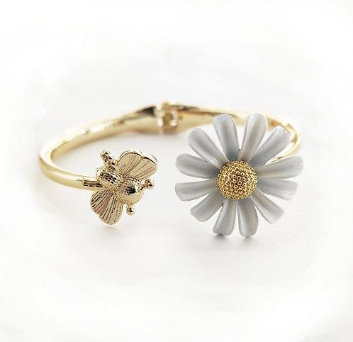צמיד דבורה ופרח