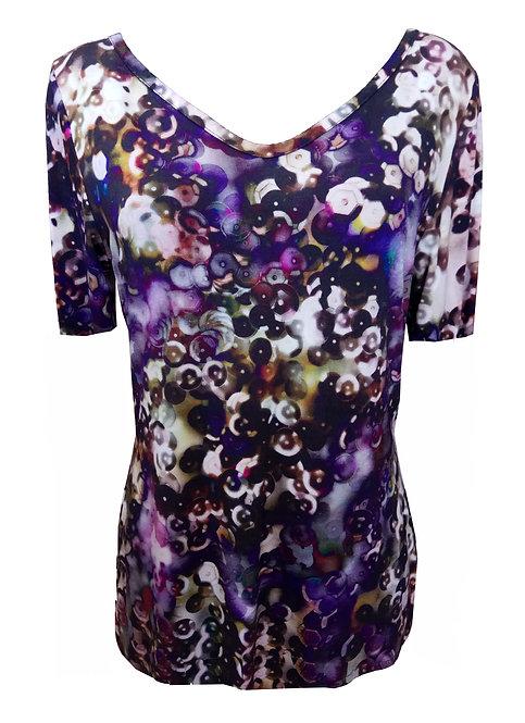 שמלת רותם פאייטים Purple Dress