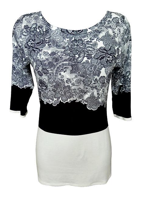 Black & White Lace Shirt