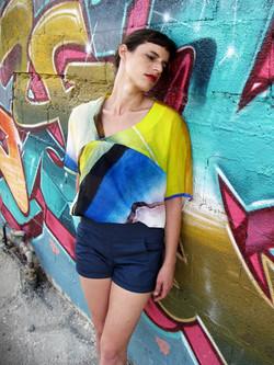 חולצת קנווס צבעים