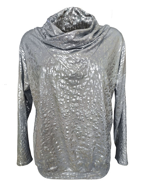 Silver Turtleneck Shirt