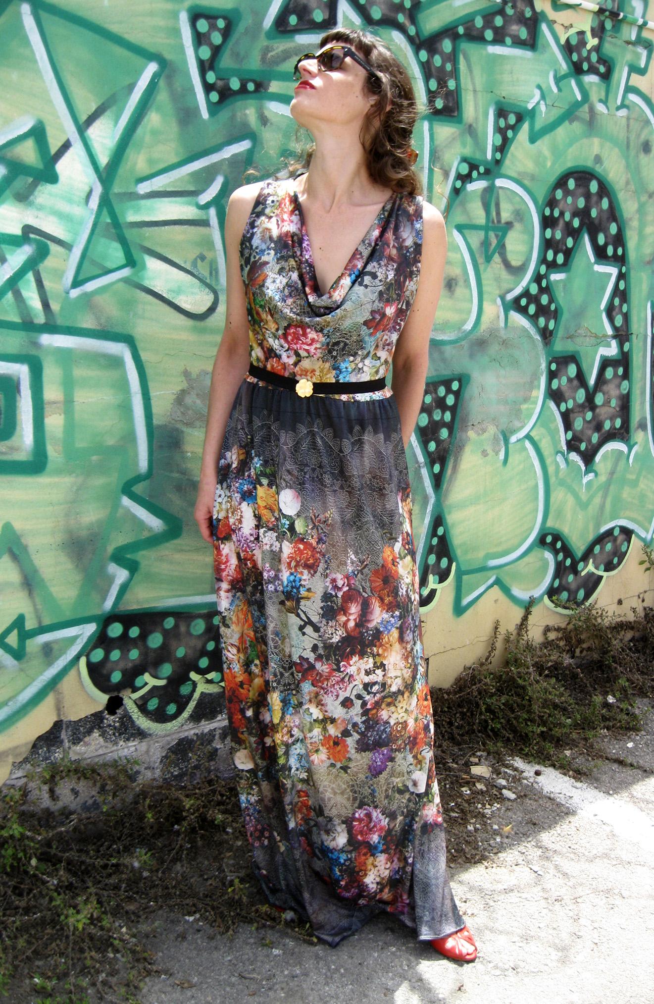 שמלת מקסי פרחונית