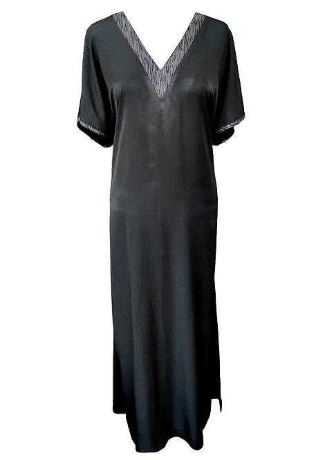 Black Kaftan Maxi Dress