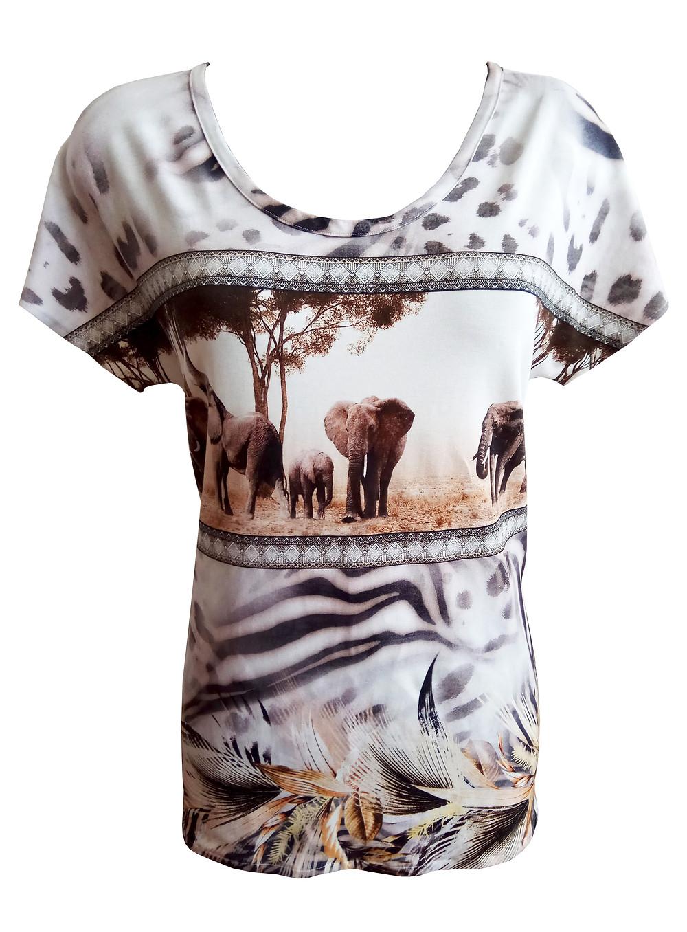 חולצת טישירט מודפסת
