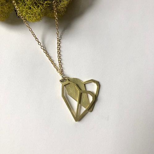 Double Heart Long Pendant