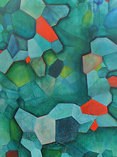 tectonic topography art painting geometric acrylic