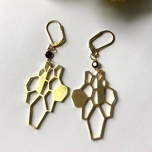 Hivenly Earrings with Swarovski Crystal