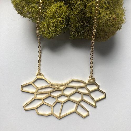 Hivenly Mini Statement Necklace Open Design