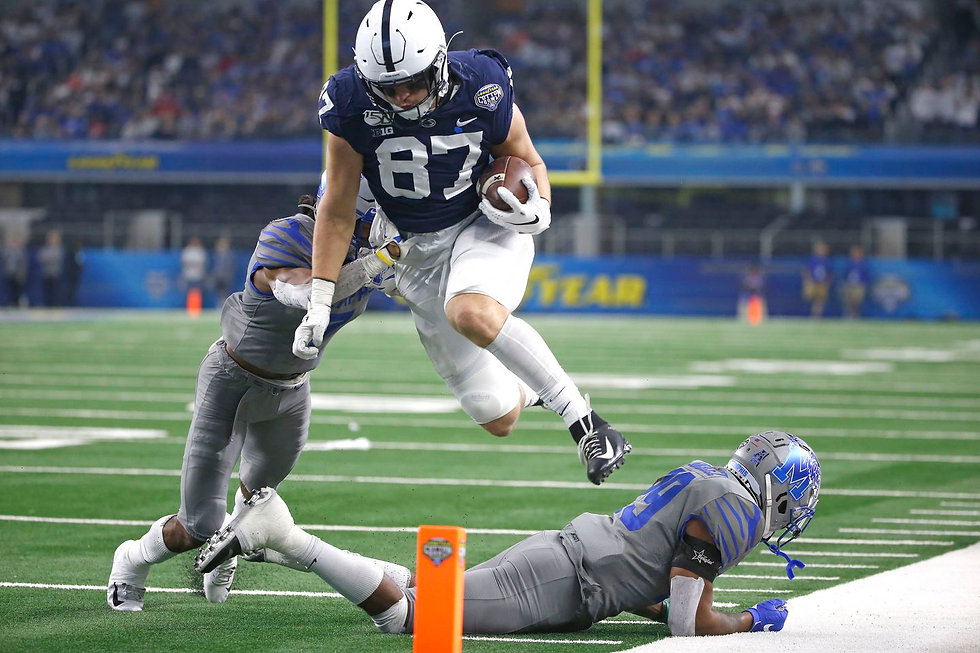 Our thoughts on 2021 dynasty fantasy football rookie Pat Freiermuth.