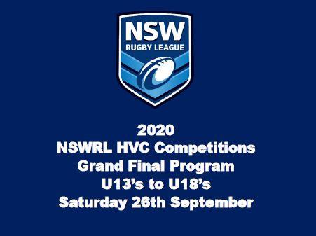 2020 NSWRL HVCC Grand Final Program