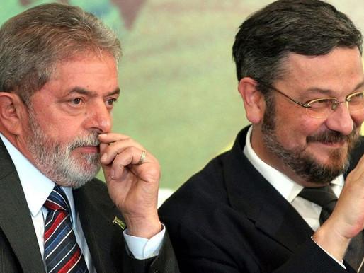 Lula, Palocci e Paulo Bernardo viram réus acusados de receber propina da Odebrecht.