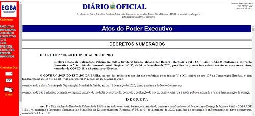 Bahia renova decreto de calamidade pública e Prefeitura de Juazeiro não se manifesta