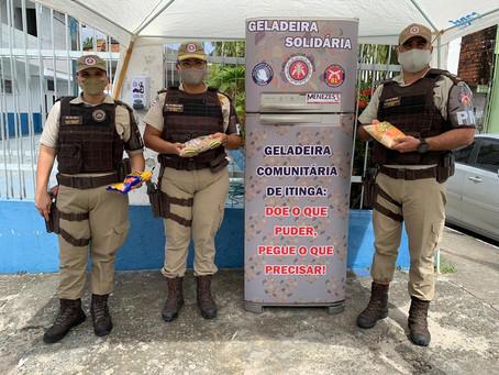 PM instala Geladeira Solidária na Base Comunitária de Itinga