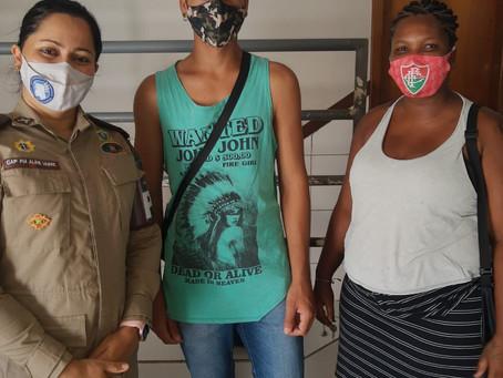 Base Comunitária ajuda jovem de Goiás que estava perdido