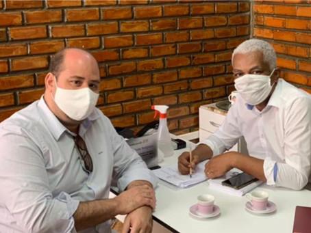 Renato Brandão e Pastor Teobaldo se encontram para discutirem apoio à Secretaria de Desenvolvimento