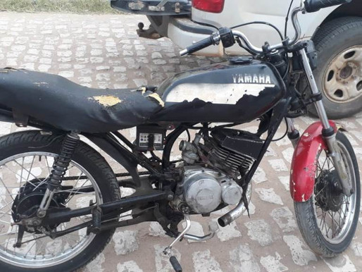 Guarda Municipal de Juazeiro apreende motocicleta roubada do pátio da 8ª CIRETRAN.