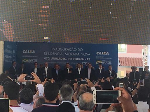 Presidente Bolsonaro é ovacionado em Petrolina.